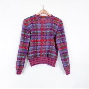 Missoni Multicolor Plaid Wool Blend Check Sweater